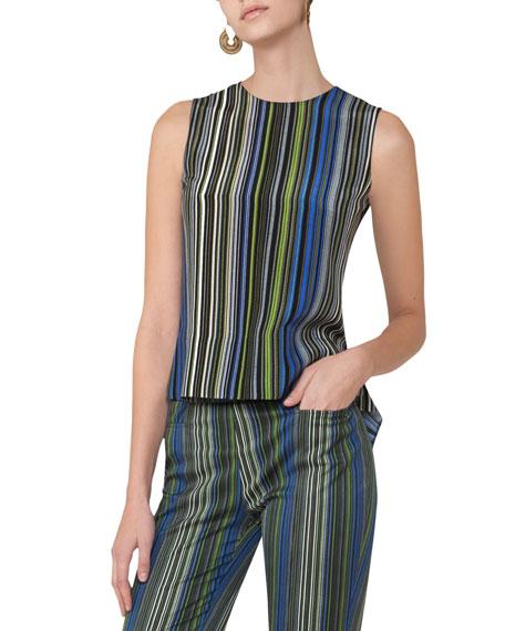 Akris punto Paracas-Print Sleeveless Top, Multi and Matching