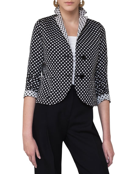 Akris punto Reversible Polka Dot Jacket, Multi