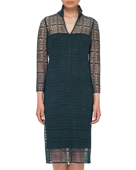 Eve Crocheted Bracelet-Sleeve Shirtdress