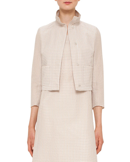Akris Bracelet-Sleeve Short Jacket, Neutral