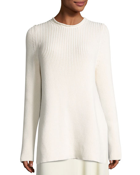 THE ROW Selina Ribbed Crewneck Sweater