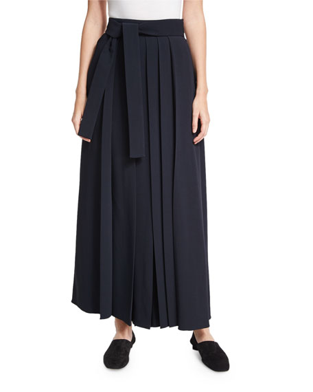 THE ROW Skannt Belted Wide-Leg Pants