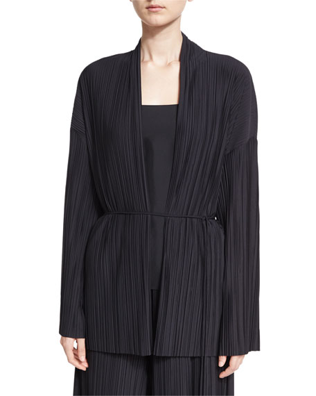 Kim Accordion-Pleated Cardigan