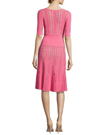 Hand-Crochet Half-Sleeve Dress