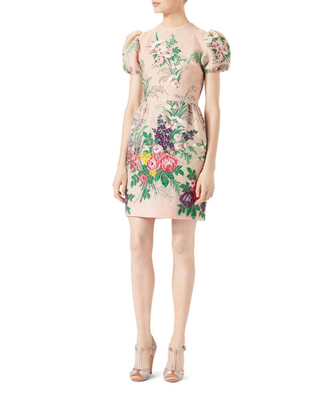 Gucci Floral-Embroidered Dress