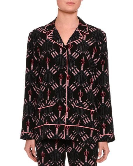 Love Blade Pajama Top, Black