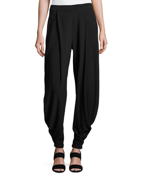 Kersten Draped Harem Pants, Black