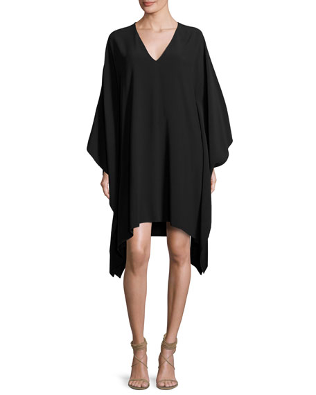 Ralph Lauren Collection Gaelle V-Neck Caftan Dress, Black