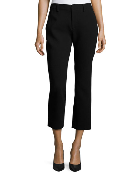 Co Crepe Cigarette Pants, Black