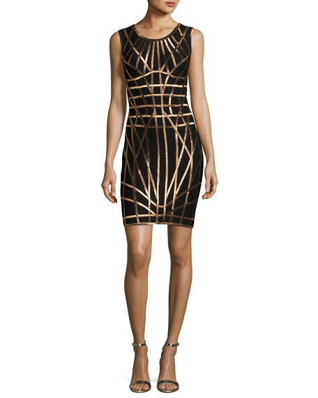 Romee Metallic Caging Bodycon Dress
