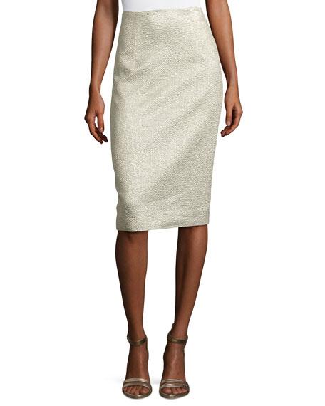 Eve Jacquard Pencil Skirt