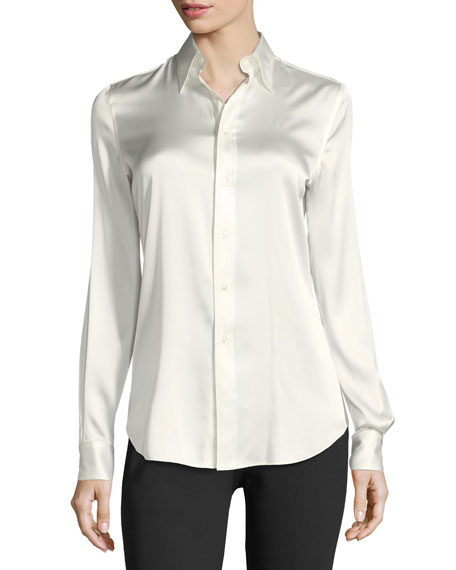 Ralph Lauren Collection Cindy Stretch-Charmeuse Blouse