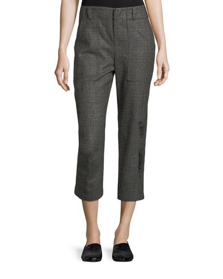 Brunello Cucinelli Cropped Princes of Wales Check Pants