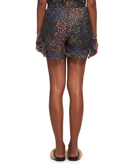 Ruffled Fireworks Shorts, Navy