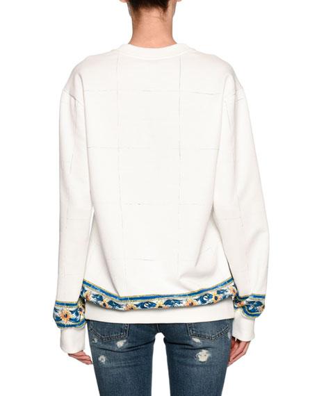 Floral Vase Sweatshirt, White