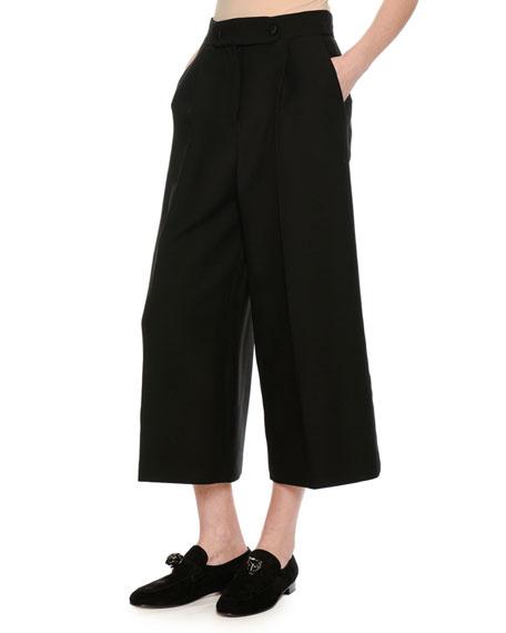 Crepe Couture Culottes, Black