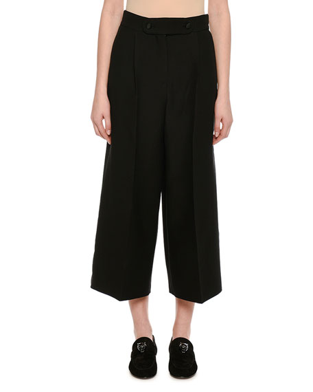 Valentino Crepe Couture Culottes, Black and Matching Items