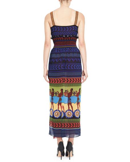 Hemera Printed Sleeveless Maxi Dress, Blue/Multi