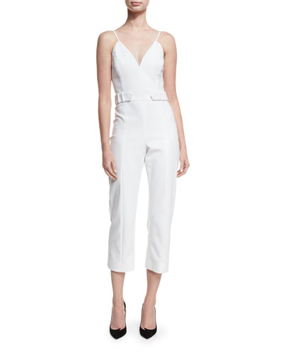 Sleeveless Belted Cropped Jumpsuit
