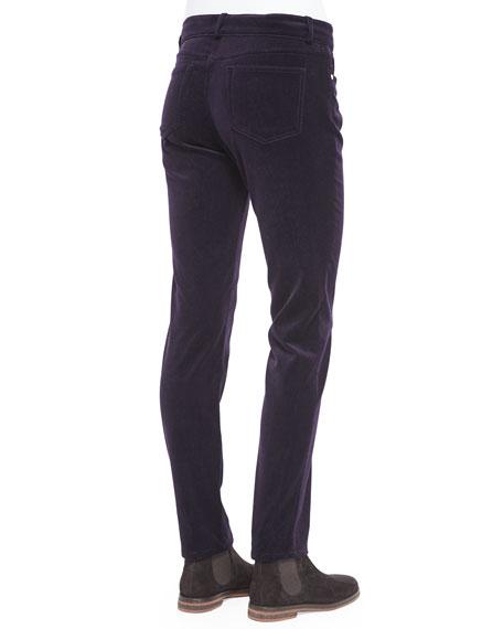 Mathias Velveteen Skinny Jeans, Amethyst