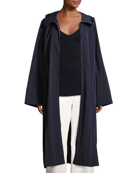 Haylen Textural Nylon Coat, Navy