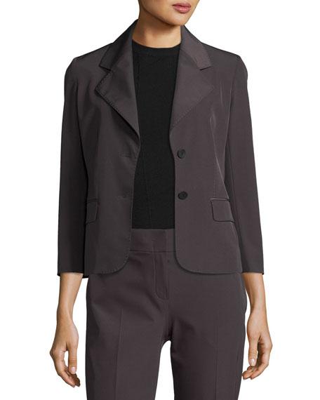 Mira Two-Button Jacket, Dark Gray