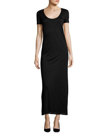 THE ROW Melen Viscose Jersey Short-Sleeve Maxi Dress,