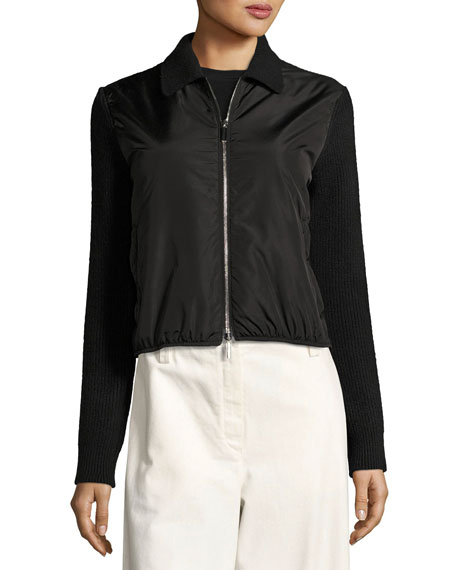 Nilli Zip-Front Jacket, Black