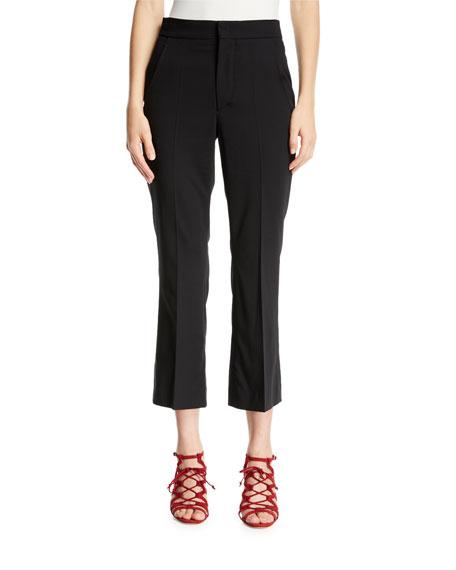 Isabel Marant Maroan Flared-Leg Crop Wool Pants