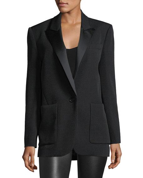 Laya Satin Tuxedo Jacket