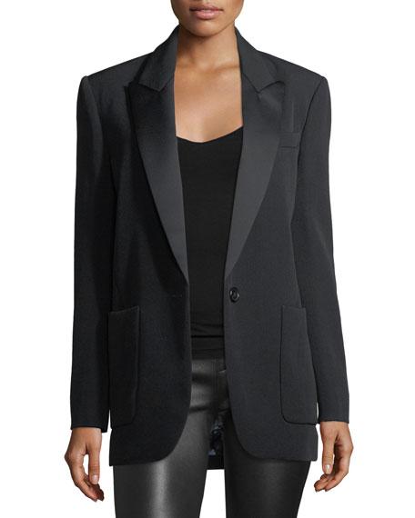 Isabel Marant Laya Satin Tuxedo Jacket