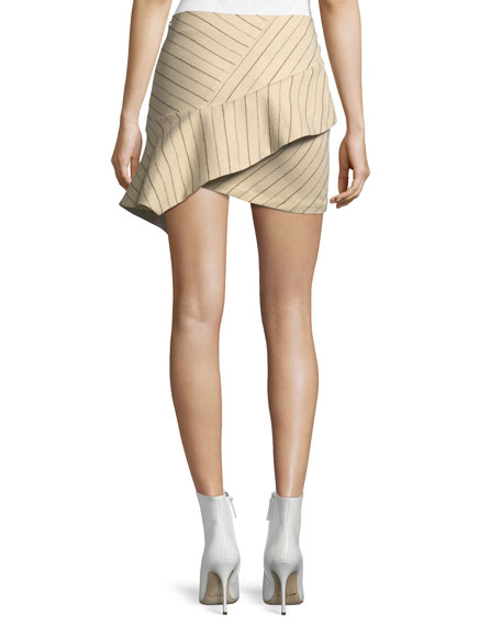Kimura Pinstriped Flannel Mini Skirt