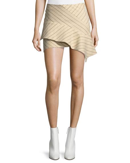 Kimura Pinstriped Flannel Mini Skirt