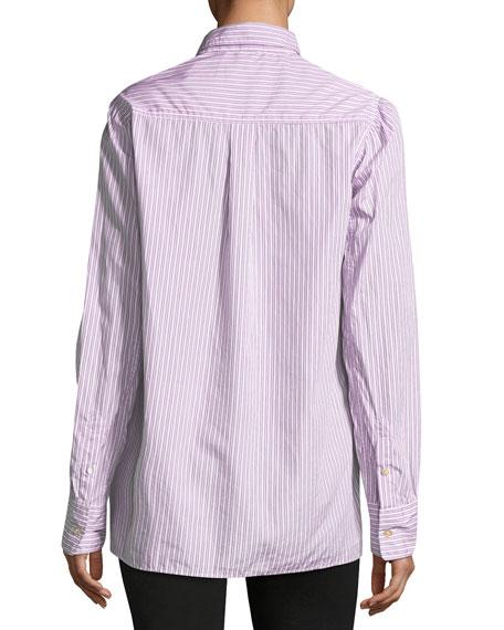 Lilianne Striped Cotton Blouse