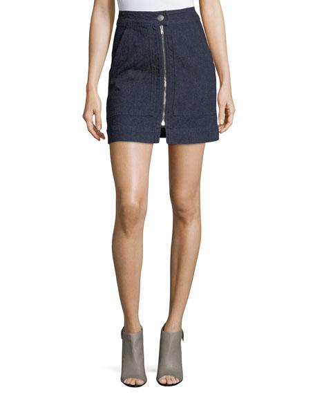 Isabel Marant Penelope Denim Zip-Front Miniskirt