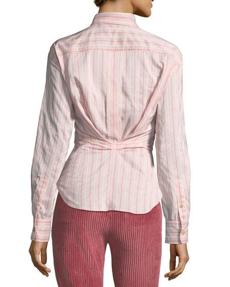 Verona Striped Long-Sleeve Blouse