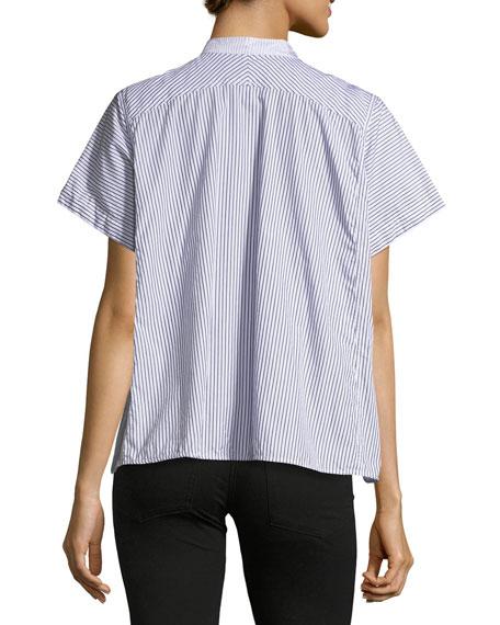 Larshey Mixed-Stripe Blouse