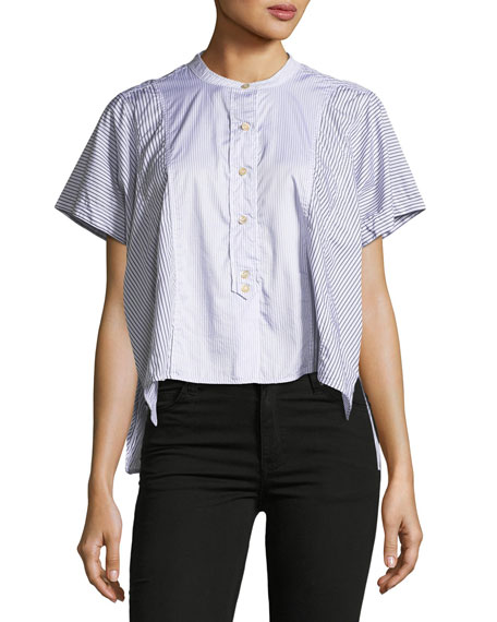 Isabel Marant Larshey Mixed-Stripe Blouse