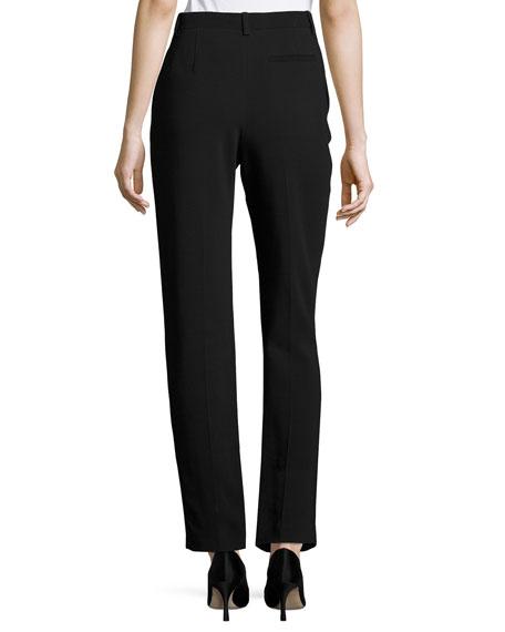 William Single-Pleat Straight-Leg Pants