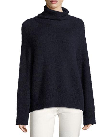 THE ROW Nonti Cashmere-Silk Turtleneck Sweater, Navy