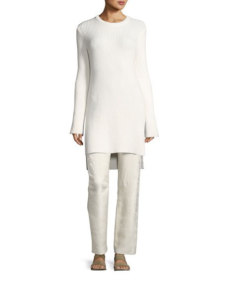 THE ROW Nashlyn Wool Tunic Sweater, Off White
