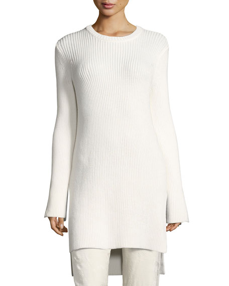Nashlyn Wool Tunic Sweater, Off White