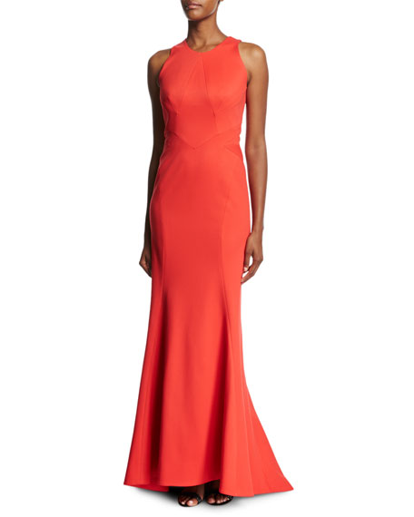 Zac Posen Bandage Jersey Sleeveless Gown, Coral