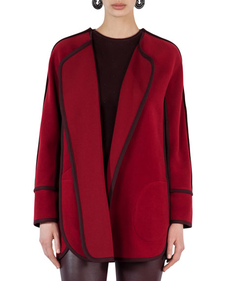 Akris punto jacket cape jacket long cash