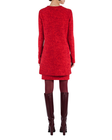 Melange Knit Tunic Dress