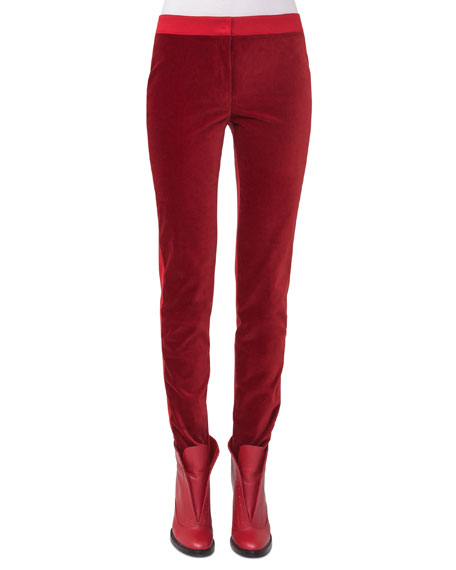 Mara Stretch-Velvet Combo Pants
