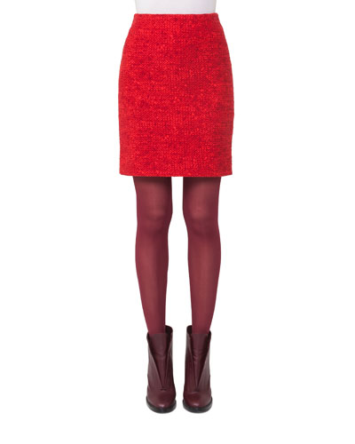 Melange Knit Mini Skirt