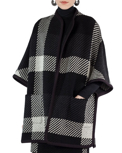 Glen Check Tweed Cape
