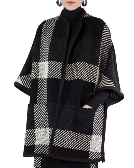 Akris punto Glen Check Tweed Cape and Matching