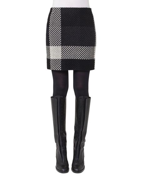 Akris punto mini skirt tweed stretch gle